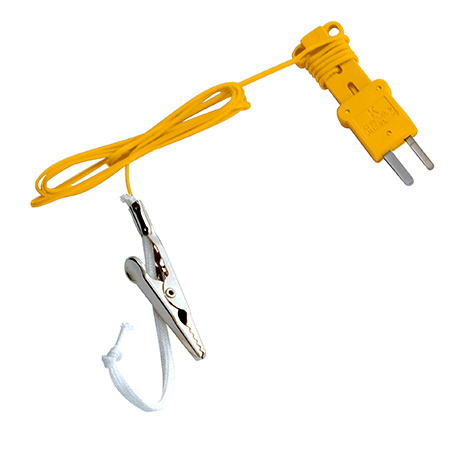 ATWB1 – Type-K Wet Bulb (sock) Thermocouple with Alligator Clip